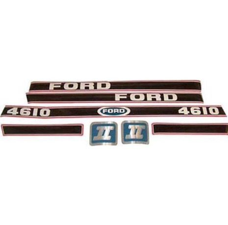 FORD 4610 STICKER KIT ( RED & BLACK ) PART NO: 1530