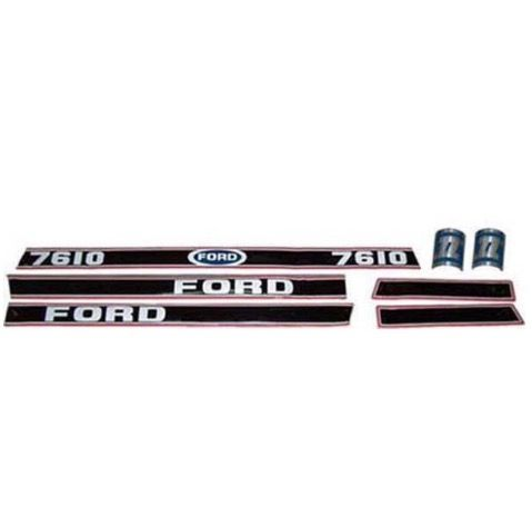 FORD 7610 STICKER KIT   ( RED & BLACK) PART NO: 4483